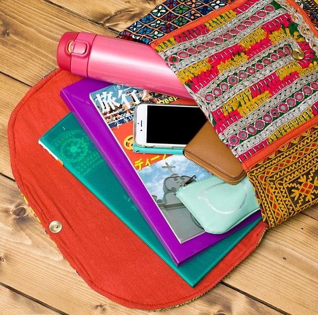 【一点物】アフガニクラッチバッグ-Lサイズ 9 - たっぷり入って使いやすいです!