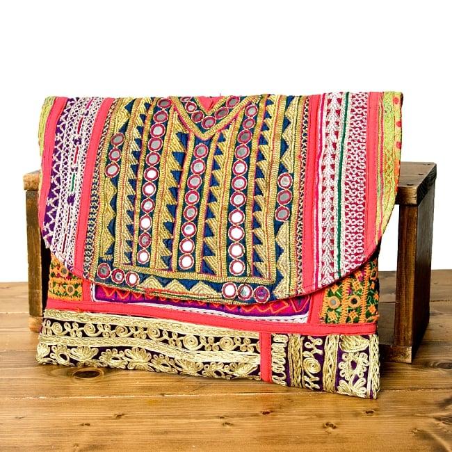 【一点物】アフガニクラッチバッグ-Lサイズの写真