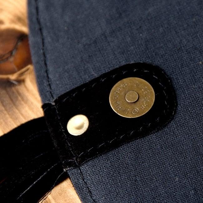 【一点物】アフガニショルダーバッグ-Lサイズ 10 - さらにマグネットボタンもついていて、しっかり留まります。※こちらは柄違いの商品です