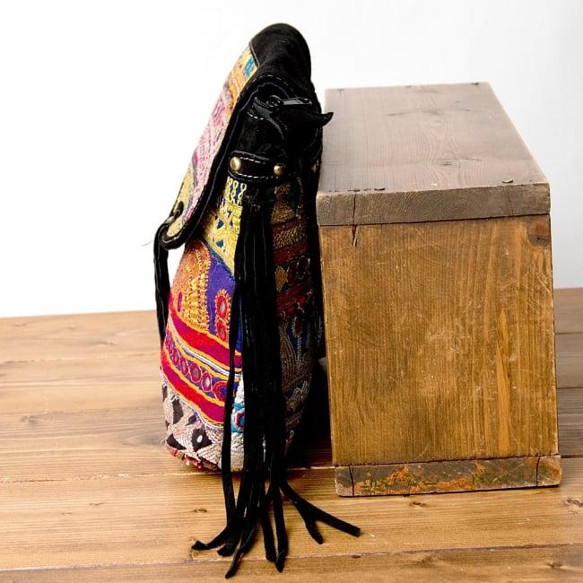 【一点物】アフガニショルダーバッグ-Lサイズ 4 - サイドはこのようになっています
