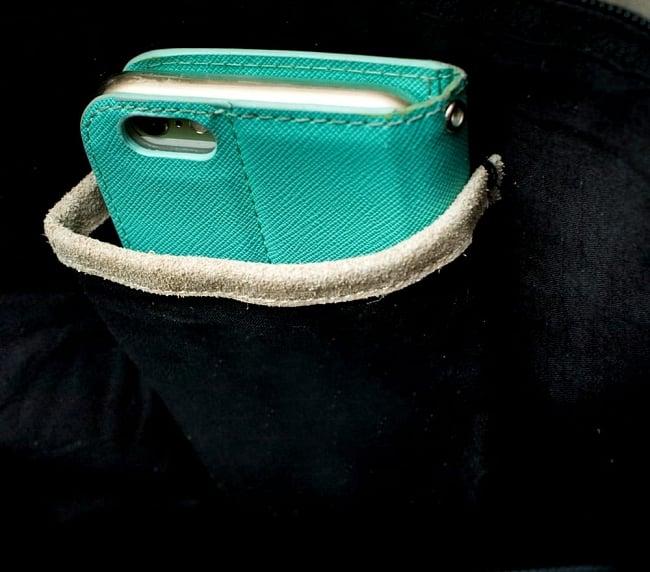 【一点物】アフガニショルダーバッグ-Lサイズ 8 - 反対側にももう1つ内ポケットがあり、便利です!