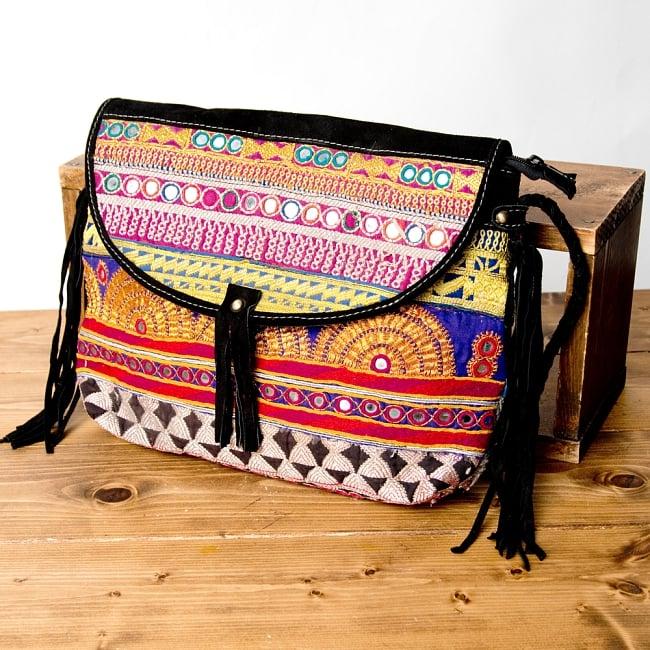 【一点物】アフガニショルダーバッグ-Lサイズの写真