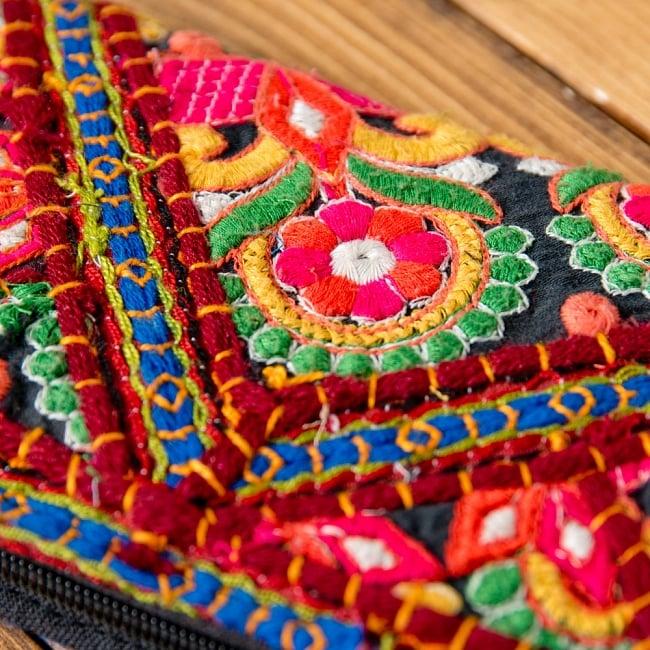 【1点物】カッチ刺繍の長財布 2 -