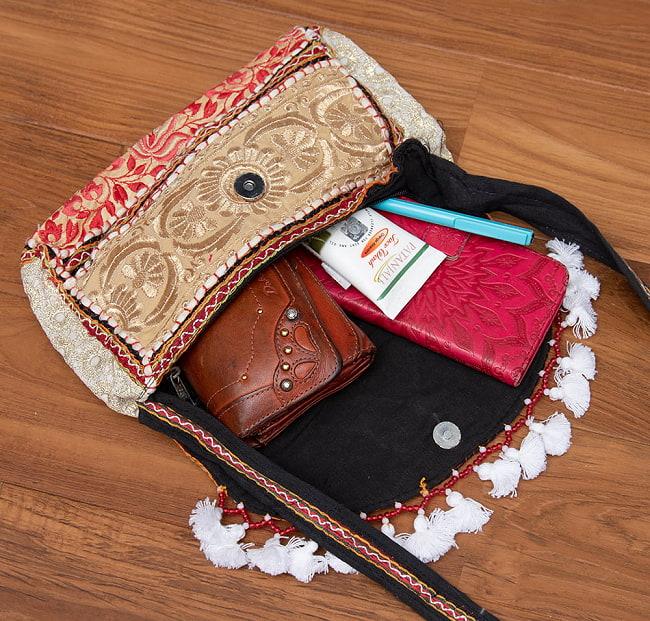 【ブラック系】選べるデザイン!カッチ刺繍のスクエアポシェット 5 - こちらよりお選び下さい。