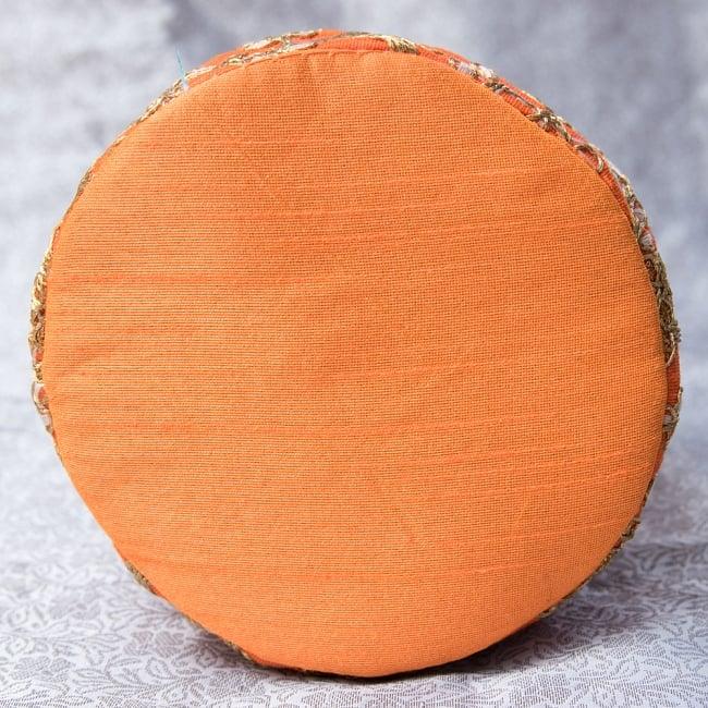 インドのきらきらミニバッグ・サリー等へオススメの巾着 - オレンジ 5 - 底部分はこの様になっています!まんまるが可愛いです!