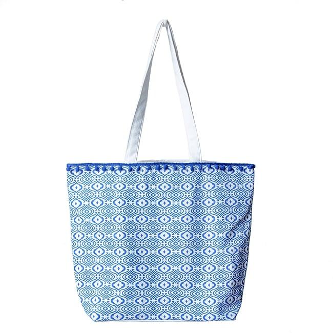 ブロックプリントのインド綿トートバッグ 4 - デザイン2