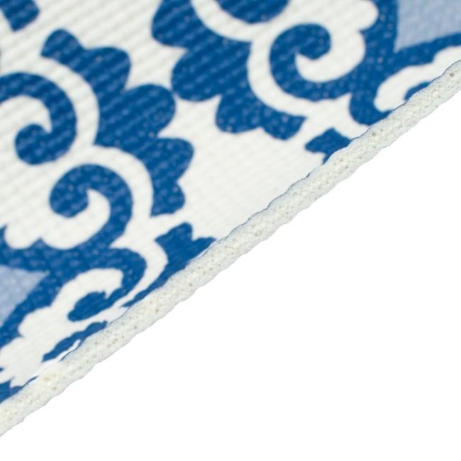 エスニック インド マンダラ柄ヨガマット(5mm) - ブルー 4 - マットの厚みは使い勝手の良い5mmです