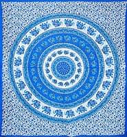 マルチクロス - 円形 象【約205cm×約230cm】