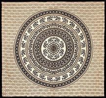 マルチクロス - 円形 象【約205cm×約220cm】