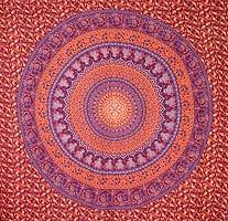 マルチクロス - 円形 象【約210cm×約230cm】の商品写真