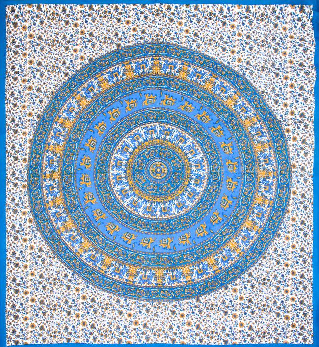 マルチクロス - 円形 象【約205cm×約230cm】の写真