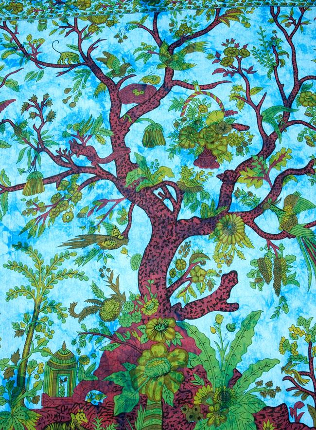 マルチクロス - 生命の木【約210cm×約225cm】の写真2 - 中心部分の拡大写真です。とても迫力があるデザインです。