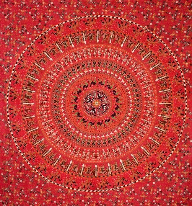 マルチクロス - 円形 花柄【約200cm×約220cm】の写真