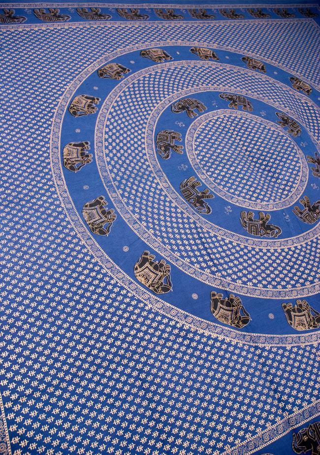 マルチクロス - 円形 象【約200cm×約250cm】の写真4 - 斜めに撮ってみたところです
