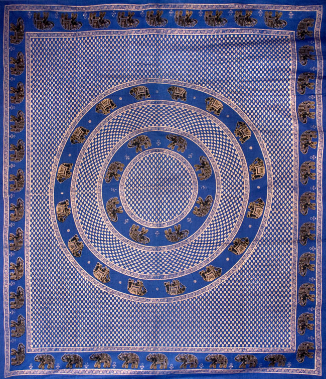 マルチクロス - 円形 象【約200cm×約250cm】の写真
