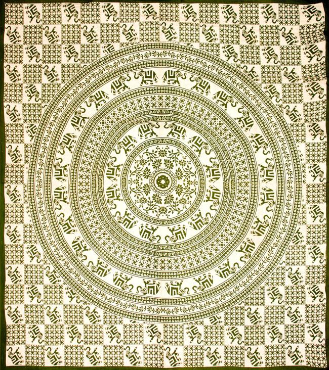 マルチクロス - 円形 象【約200cm×約230cm】の写真