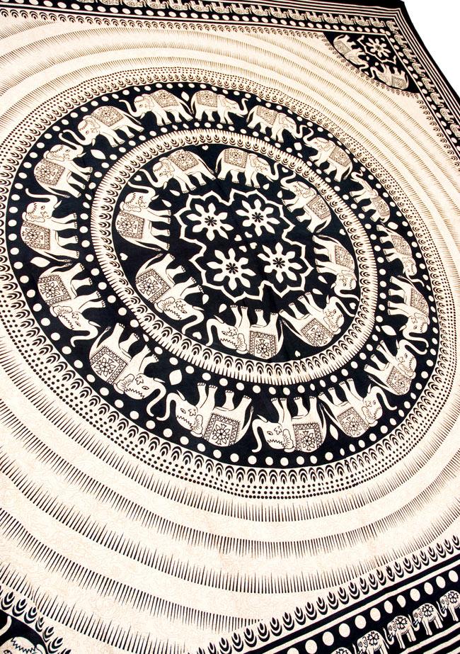 マルチクロス - 円形 象【約205cm×約225cm】 4 - 斜めに撮ってみたところです