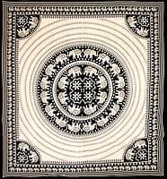 マルチクロス - 円形 象【約205cm×約225cm】