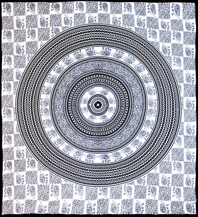 マルチクロス - 円形 象【約205cm×約220cm】の写真