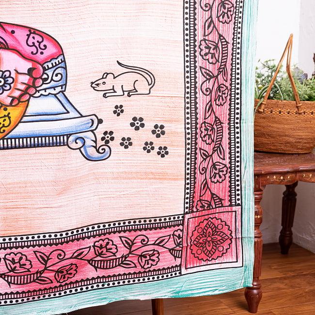 マルチクロス - ガネーシャ シヴァ神 ブッダ【約205cm×約215cm】の写真8 - 【選択B】シヴァ神はこのような雰囲気になります