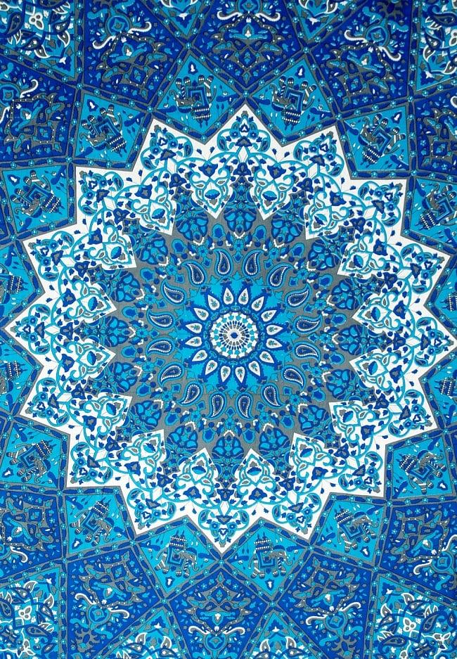 マルチクロス - マンダラ【約194cm×約134cm】の写真2 - 中心部分の拡大写真です。とても迫力があるデザインです。