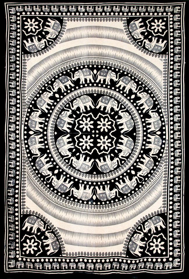 マルチクロス - 円形 象【約200cm×約130cm】の写真