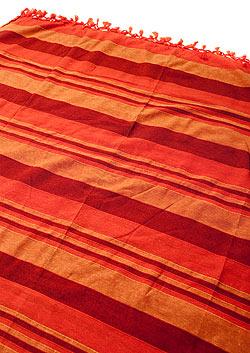【自由に選べる6個セット】〔235cm×150cm〕カディコットン風マルチクロス - ストライプ柄 紫の写真