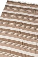 〔260cm×215cm〕カディコットン風マルチクロス - ストライプ柄 ライトブラウン