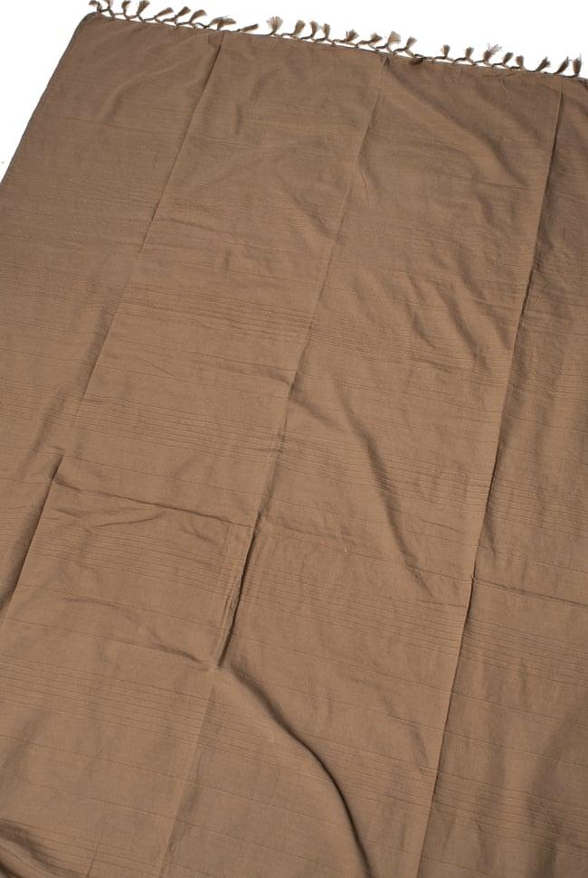 〔235cm×150cm〕カディコットン風マルチクロス - モノカラー ブラウンの写真