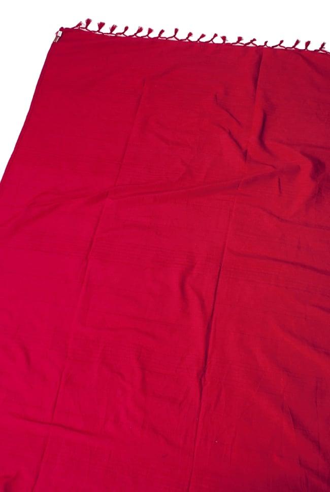 〔235cm×150cm〕カディコットン風マルチクロス - モノカラー レッドの写真