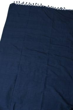 〔235cm×150cm〕カディコットン風マルチクロス - モノカラー 濃紺
