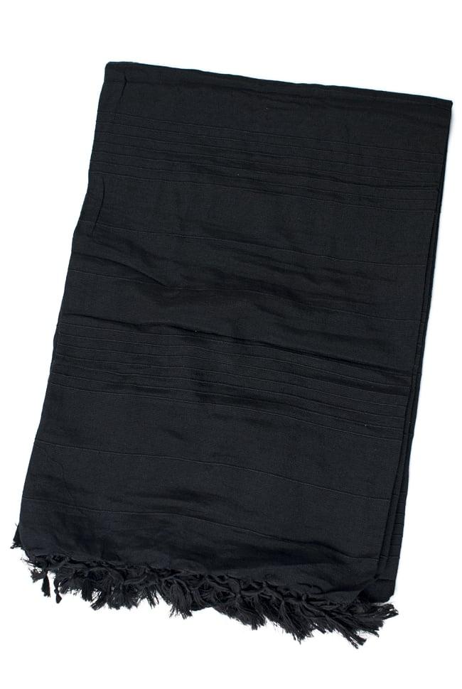 〔235cm×150cm〕カディコットン風マルチクロス - モノカラー 黒 2 - 折りたたむとこのくらいの大きさになります