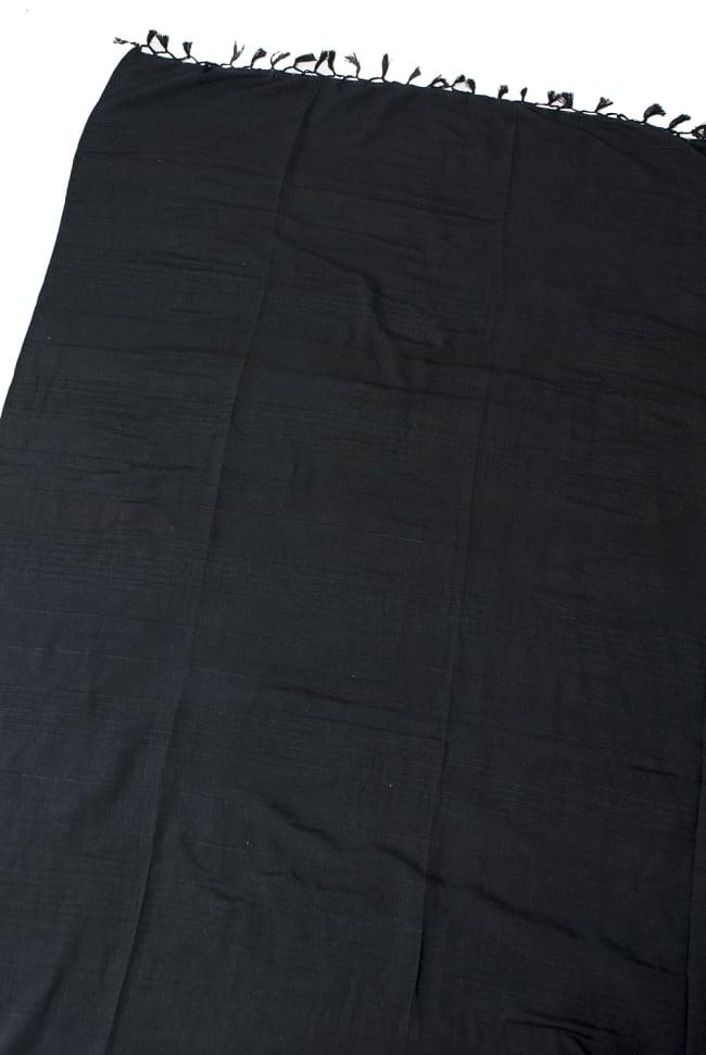 〔235cm×150cm〕カディコットン風マルチクロス - モノカラー 黒の写真