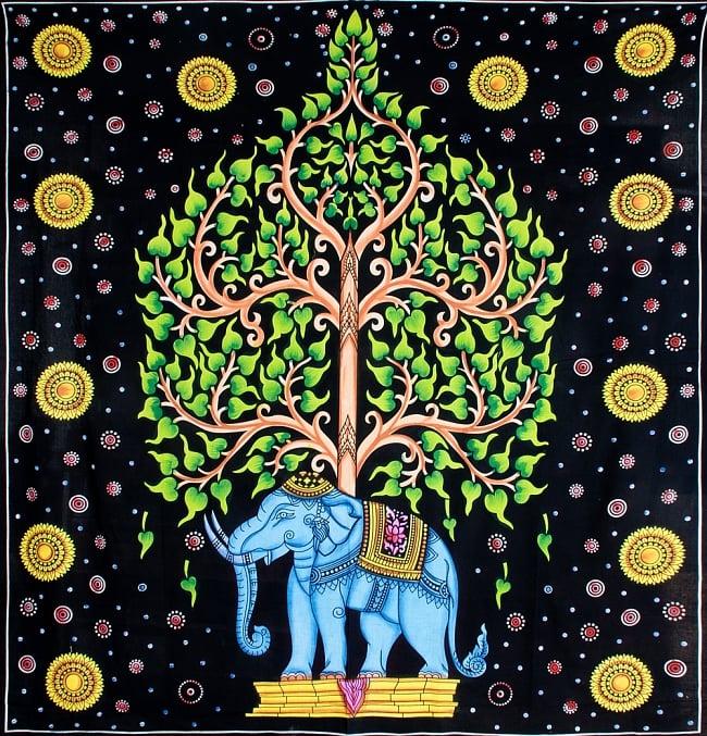 マルチクロス - 象と生命の樹【約220cm×約205cm】 8 - 【模様 No.2】はこちら
