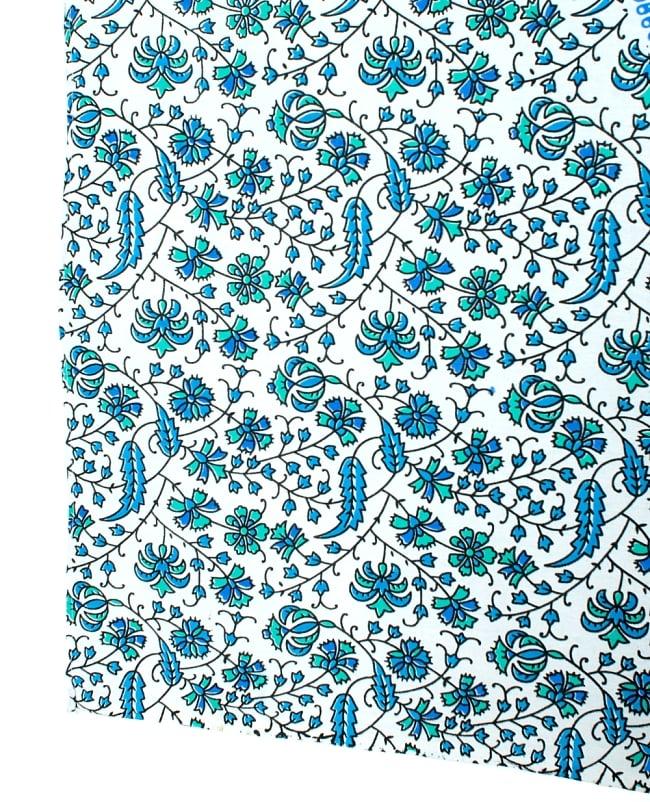 マルチクロス - 更紗柄マンダラ【約220cm×約205cm】の写真3 - 縁部分の写真です