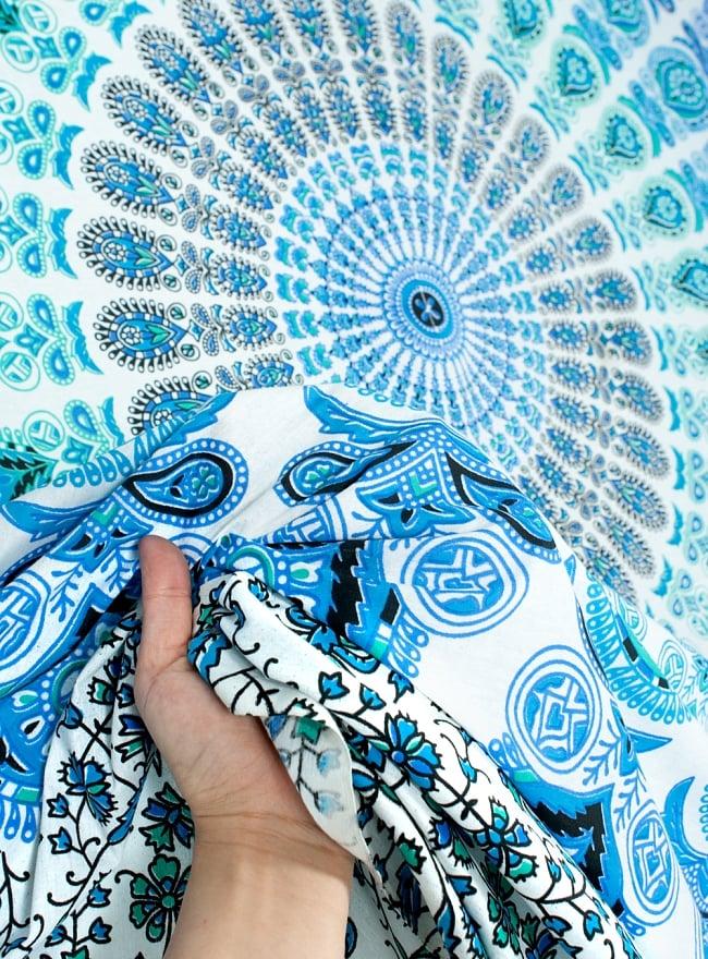 マルチクロス - 更紗柄マンダラ【約220cm×約205cm】の写真5 - とても雰囲気があります