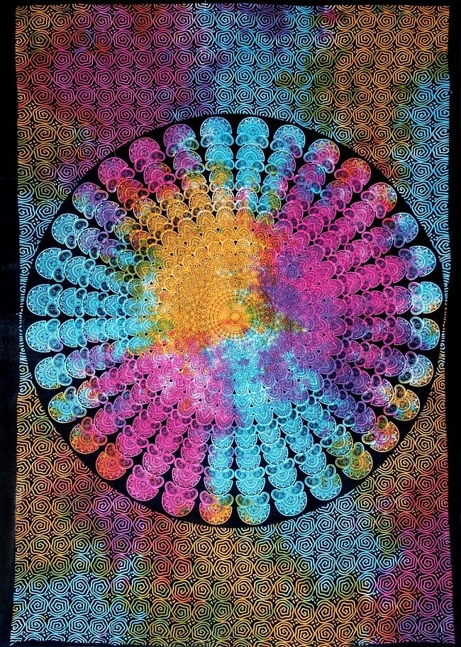 マルチクロス - ホーリーカラーマンダラ【約195cm×約134cm】の写真
