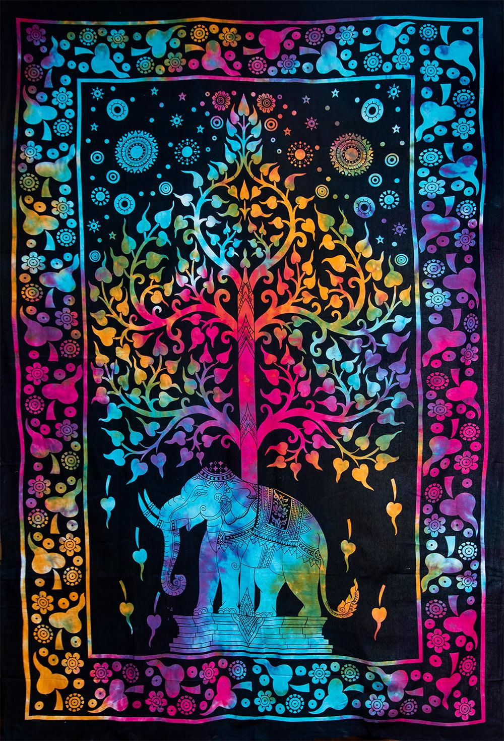 マルチクロス - 生命の木【約198cm×約138cm】の写真