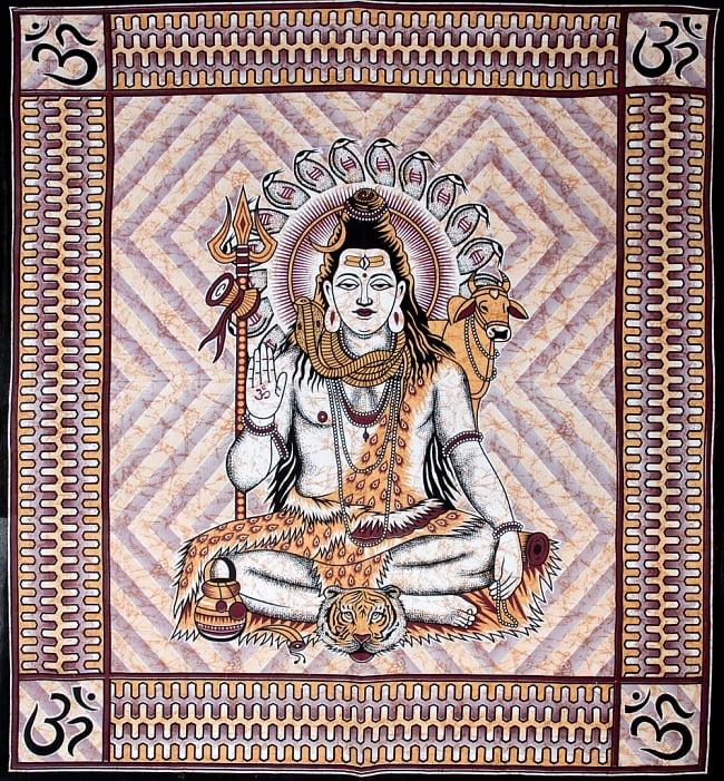マルチクロス - シヴァ神【約225cm×約208cm】の写真