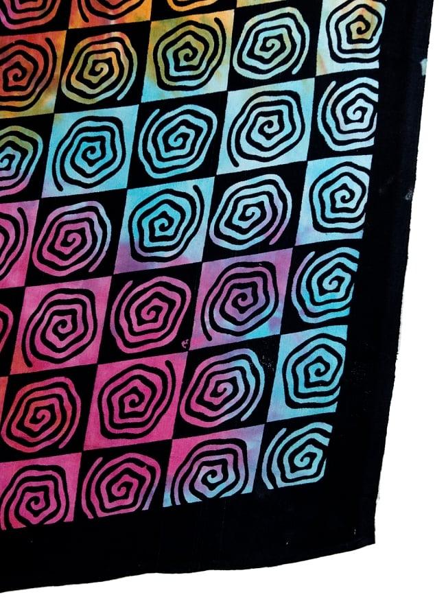 マルチクロス - ホーリーカラーマンダラ【約215cm×約208cm】の写真3 - 縁部分の写真です