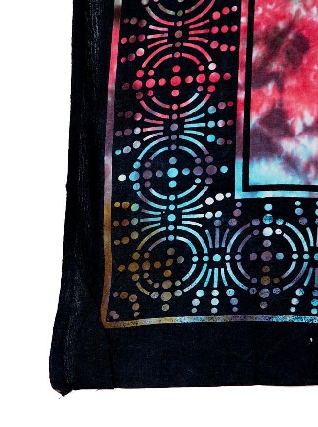 マルチクロス - オーンとチャクラのヤントラ【約220cm×約208cm】 3 - 縁部分の写真です