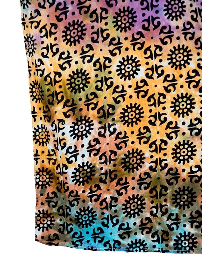 マルチクロス - ホーリーカラーマンダラ【約220cm×約200cm】の写真3 - 縁部分の写真です