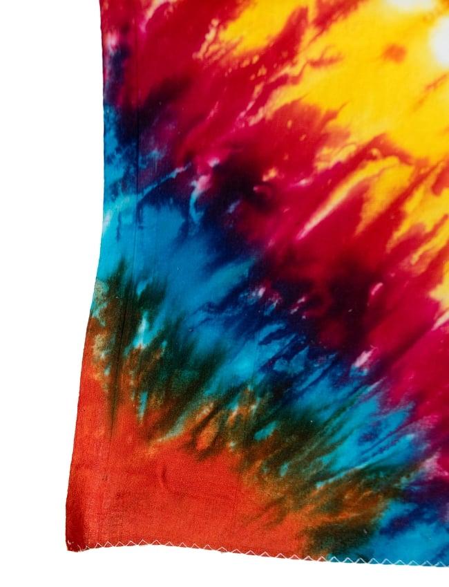 マルチクロス - サイケデリックタイダイ【約220cm×約135cm】 3 - 縁部分の写真です
