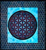 マルチクロス - 生命の花 フラワー・オブ・ライフ【約226cm×約210cm】の商品写真