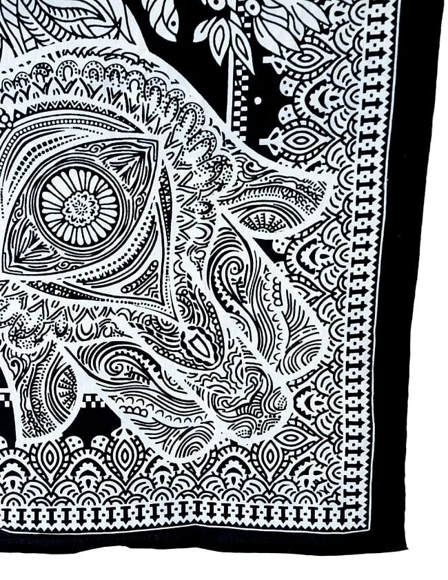 マルチクロス - ファーティマの手 ハムサ【約215cm×約200cm】 3 - 縁部分の写真です