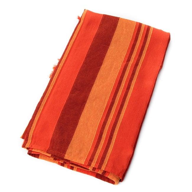 〔260cm×215cm〕カディコットン風マルチクロス - オレンジ系 2 - 折りたたむとこのくらいの大きさになります