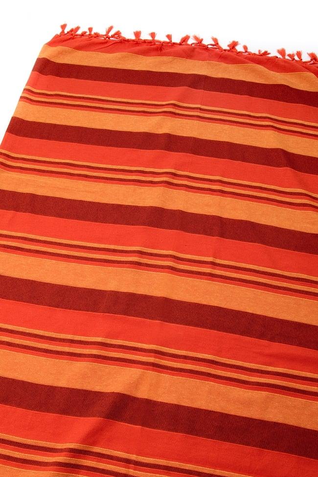 〔260cm×215cm〕カディコットン風マルチクロス - オレンジ系の写真