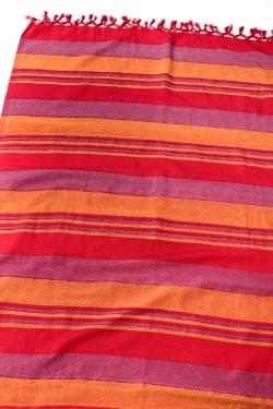 〔260cm×215cm〕カディコットン風マルチクロス - 赤・オレンジ・紫系