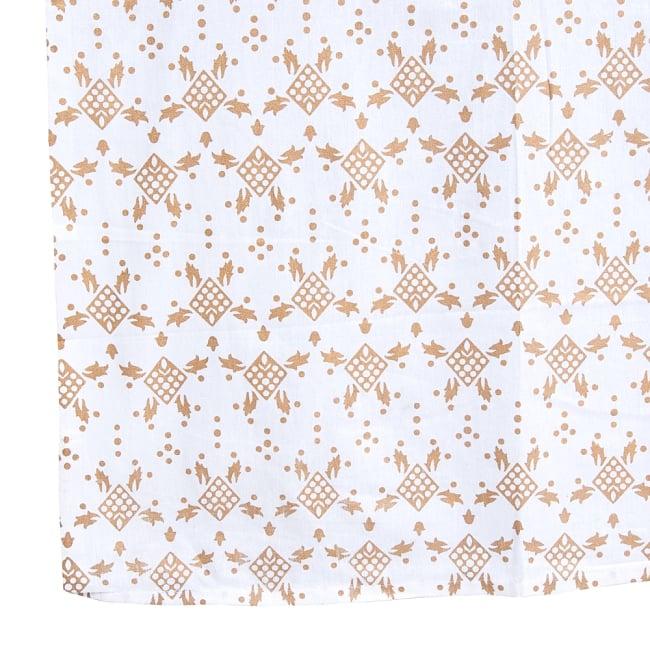 マルチクロス  ホワイト&ゴールドラメマンダラ〔約206cm×約132cm〕 3 - 縁部分の写真です