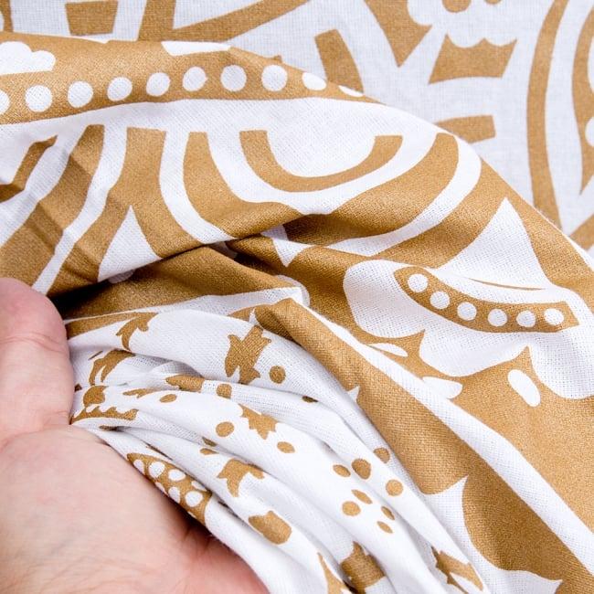 マルチクロス  ホワイト&ゴールドラメマンダラ〔約225cm×約202cm〕 5 - とても雰囲気があります